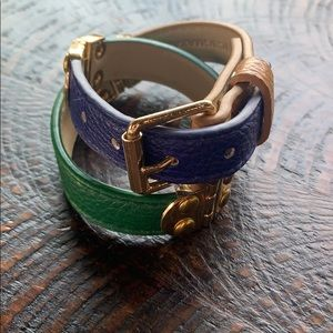 BCBG leather wrap bracelet